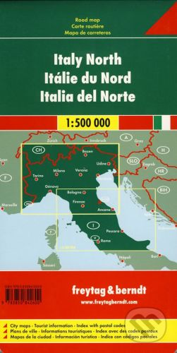 freytag&berndt Italy North 1:500 000 - cena od 152 Kč