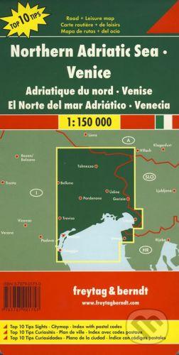 freytag&berndt Northern Adriatic Sea, Venice 1:150 000 - cena od 190 Kč