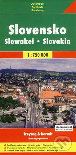 Slovensko plán 1:750 000 cena od 0 Kč