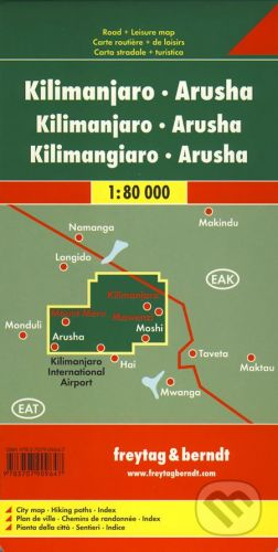 freytag&berndt Kilimanjaro, Arusha 1:80 000 - cena od 190 Kč