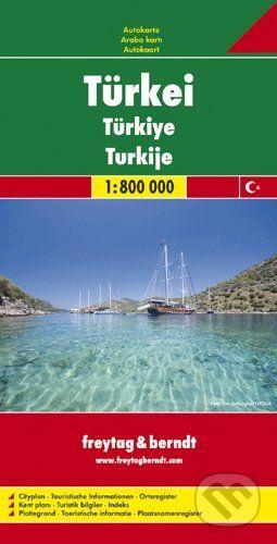 freytag&berndt Türkei · Türkiye · Turkije 1:800 000 - cena od 190 Kč