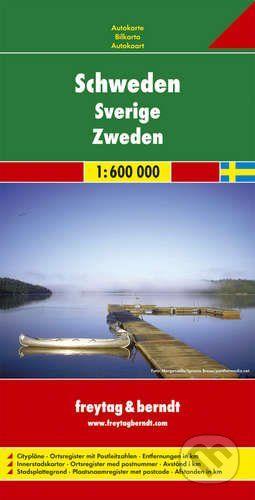 freytag&berndt Schweden · Sverige · Zweden 1:600 000 - cena od 190 Kč