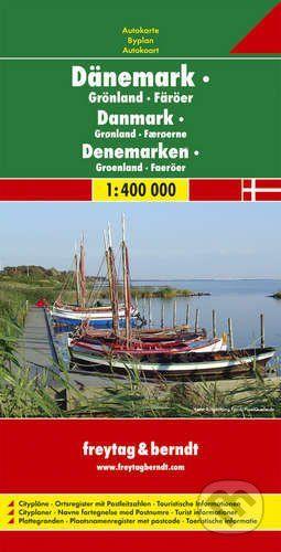 freytag&berndt Dänemark · Grönland · Färöer 1:400 000 - cena od 190 Kč