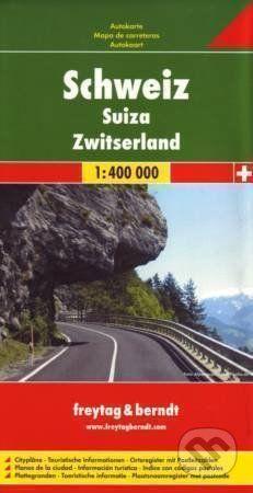 freytag&berndt Schweiz · Suize · Zwitzerland 1:400 000 - cena od 187 Kč