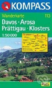 Kompass Davos - Arosa - Prättigau - Klosters 1 : 50 000 - cena od 310 Kč