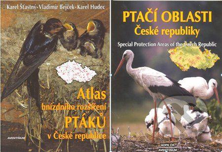 Aventinum Atlas hnízdního rozšíření ptáků v České republice + Ptačí oblasti České republiky - Karel Šťastný, Vladimír Bejček, Karel Hudec cena od 420 Kč