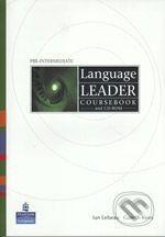 Pearson, Longman Language Leader - Pre-Intermediate - D. Cotton a kolektív cena od 480 Kč
