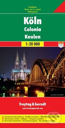 freytag&berndt Kolín 1:20 000 - cena od 155 Kč