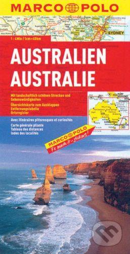 Austrálie australien 1:4 000 000 cena od 133 Kč