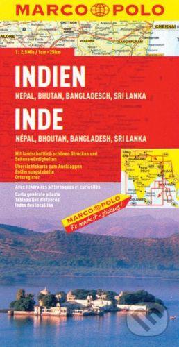 Indie, nepál, bhutan, bangladéš, sri lanka 1:2 500 000 cena od 140 Kč