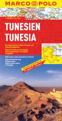 MAIRDUMONT Tunesien 1:800 000 - cena od 129 Kč