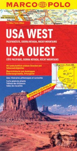 MAIRDUMONT USA West 1:2 000 000 - cena od 178 Kč
