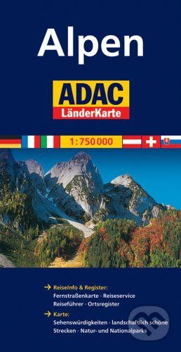 Kolektiv: Alpy/mapa 1:750T ADAC cena od 160 Kč