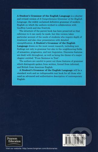 Longman A Student's Grammar of the English Language - Sidney Greenbaum, Randolph Quirk cena od 2077 Kč