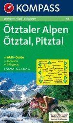 MAIRDUMONT Ötztaler Alpen, Ötztal, Pitztal - cena od 147 Kč