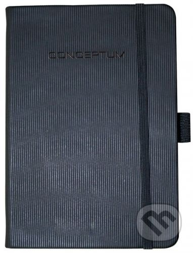 Sigel Notebook CONCEPTUM hardcover čierny A6 štvorček - cena od 344 Kč