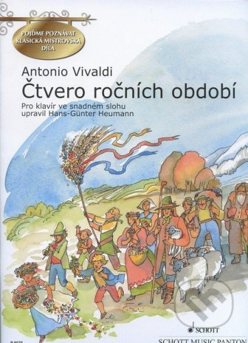 SCHOTT MUSIC PANTON s.r.o. Čtvero ročních období - Antonio Vivaldi cena od 261 Kč