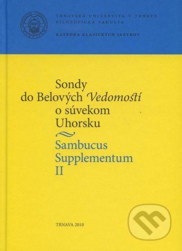 Trnavská univerzita v Trnave - Filozoficka fakulta Sambucus Supplementum II. - cena od 233 Kč