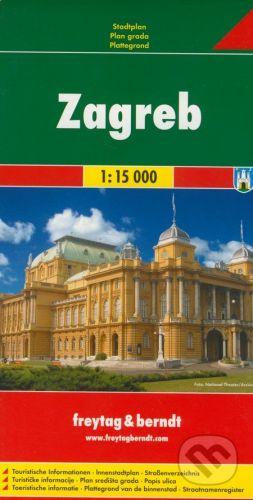 freytag&berndt Zagreb 1:15 000 - cena od 155 Kč