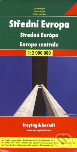 freytag&berndt Střední Evropa 1:2 000 000 - cena od 190 Kč