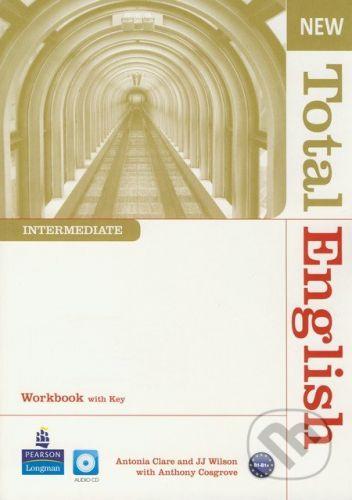 Pearson, Longman New Total English - Intermediate - Workbook with Key (+ Audio CD) - Antonia Clare, J.J. Wilson, Antohny Cosgrove cena od 280 Kč