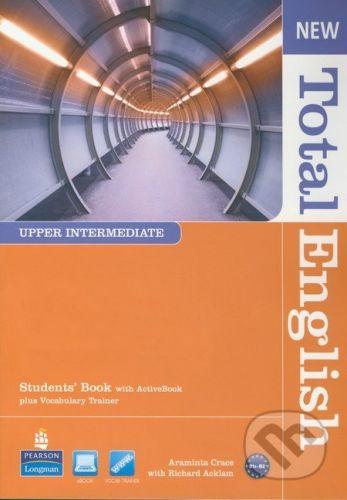Pearson, Longman New Total English - Upper Intermediate - Students Book with Active Book - Araminta Crace, Richard Acklam cena od 475 Kč