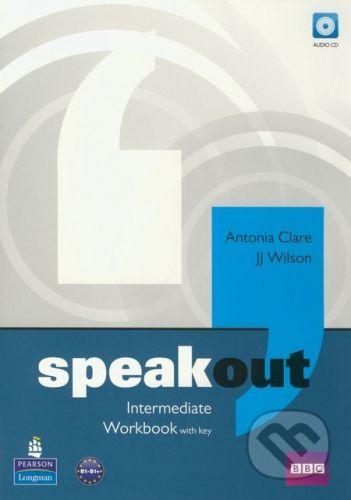 Pearson, Longman Speakout - Intermediate - Workbook with key - Antonia Clare, J.J. Wilson cena od 258 Kč