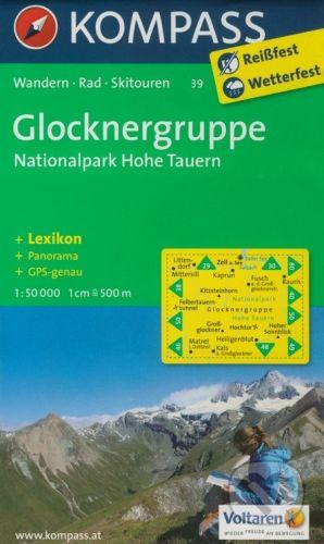 Kompass Glocknergruppe 1:50 000 - cena od 147 Kč