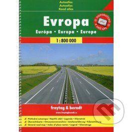 freytag&berndt Evropa - autoatlas 1:800 000 - cena od 260 Kč