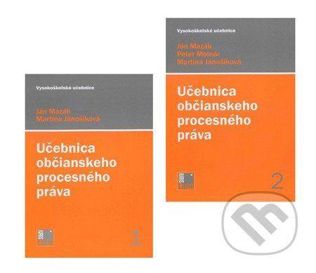 IURIS LIBRI Učebnica občianskeho procesného práva 1+2 - Ján Mazák, Mária Jánošíková, Peter Molnár cena od 334 Kč