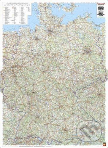 freytag&berndt Nemecko - nástenná mapa 1:700 000 - cena od 433 Kč
