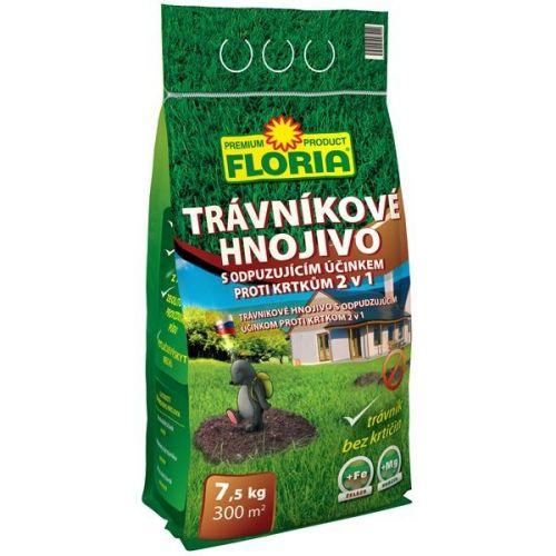 Agro FLORIA Trávníkové hnojivo s odpuzujícím účinkem proti krtkům 7,5 kg