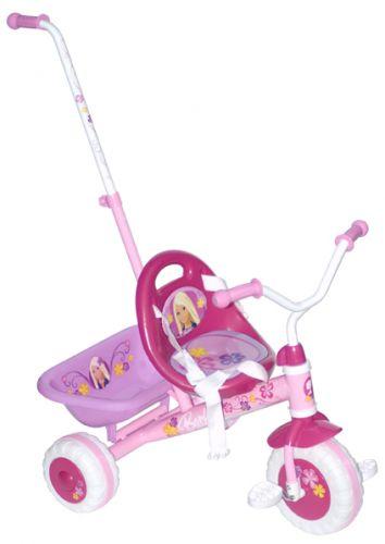 Barbie tříkolka s vodící tyčí