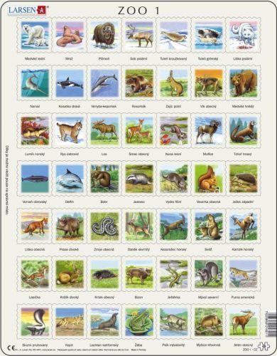 LARSEN Puzzle - ZOO 1 , 49 dílků