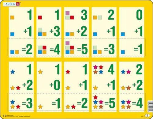 LARSEN Puzzle - Malé sčítání 1-5, 10 dílků