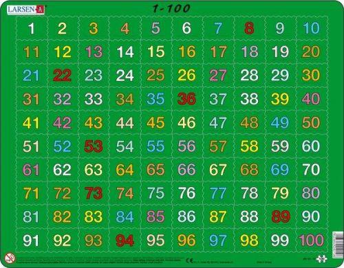 LARSEN Puzzle - 1 - 100, 100 dílků