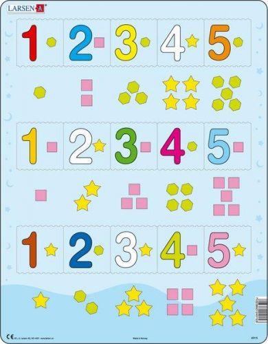 LARSEN Čísla 1-5 s grafickými znaky