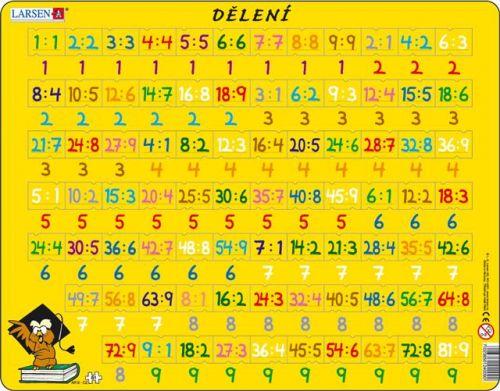 LARSEN Puzzle - Dělení, 81 dílků