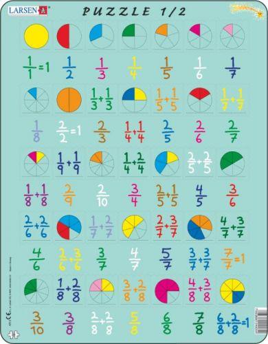 LARSEN Puzzle - Počítání - zlomky, 35 dílků