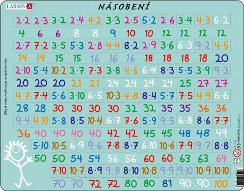 LARSEN Puzzle - Násobení, 81 dílků