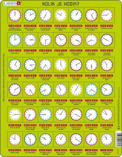 LARSEN Puzzle - Kolik je hodin ?, 42 dílků