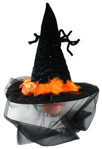Rappa klobouk se závojem a pavoukem halloween cena od 185 Kč