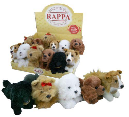 Rappa plyšový pes ležící 17 cm