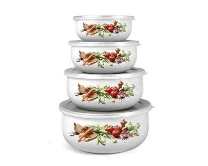 BANQUET 8dílná sada smaltovaných misek Belly - Zelenina cena od 169 Kč