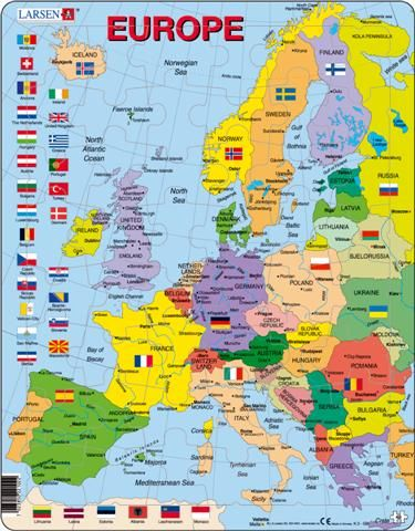 LARSEN Mapa Evropy na výšku