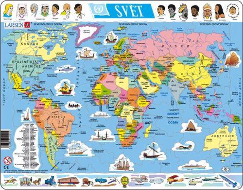 LARSEN Mapa Svět