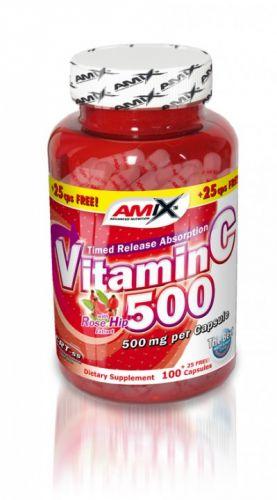Amix Vitamin C 500mg 125 kapslí