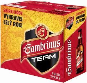GAMBRINUS 10° 8 X 0,5 L sklo