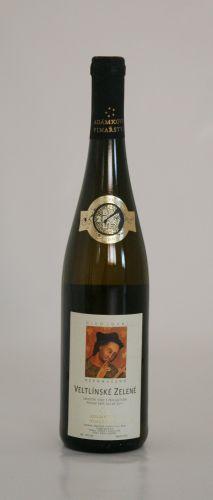 Adámkovo Vinařství VELTLÍNSKÉ ZELENÉ POZDNÍ SBĚR 2011 0,75 l