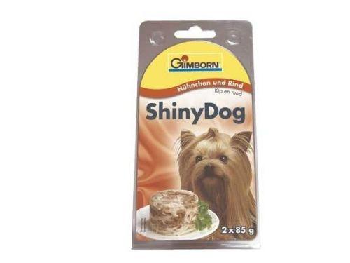 Gimborn Shiny Dog kuře & hovězí 2x85 g